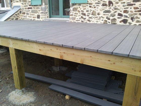 R alisez une terrasse sur pilotis partie 4 4 reussir for Realiser une terrasse en bois sur pilotis