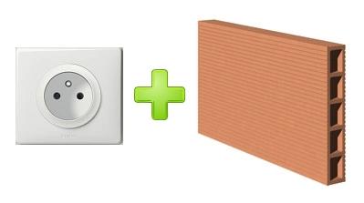 comment ajouter proprement une prise de courant dans un mur en briques platri res reussir ses. Black Bedroom Furniture Sets. Home Design Ideas