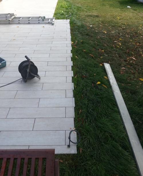 Finition carrelage terrasse