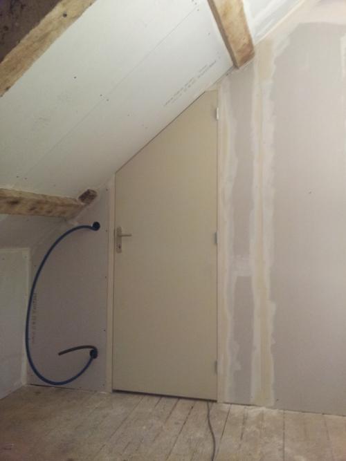 Pose d un bloc porte poser un bloc porte dans un couloir - Pose de bloc porte ...