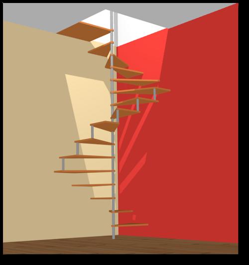 Escalier en colima on le principe reussir ses travaux - Largeur escalier colimacon ...