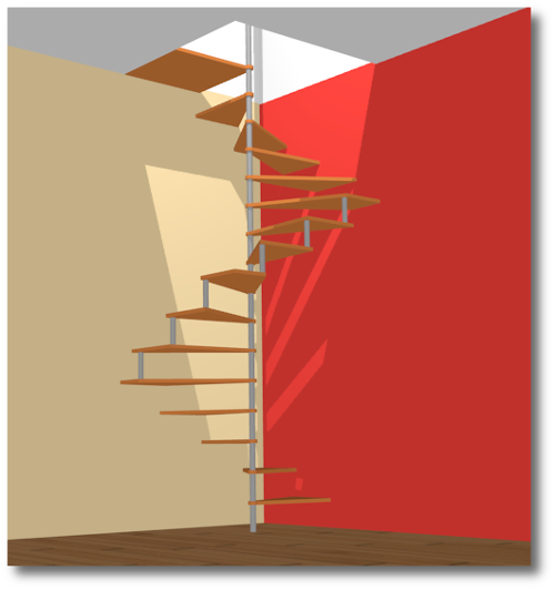 escalier en colima on le principe reussir ses travaux. Black Bedroom Furniture Sets. Home Design Ideas