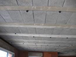 Poutrelles hourdis reussir ses travaux - Isolation des plafonds sous plancher hourdis beton ...