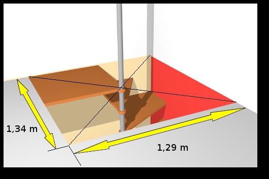 escalier helicoidal tremie